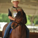 Jeff Bosley and his mare Bacara do Summerwind, grand champion