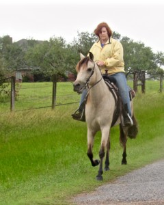 Cathy Pierce riding Destiny do Summerwind.